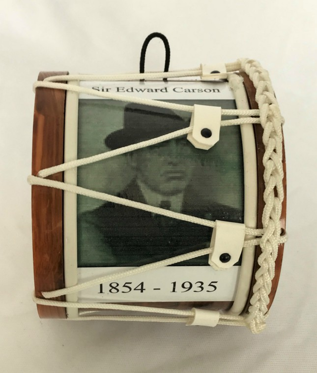 Sir Edward Carson 1854 - 1935 Mini Lambeg Drum